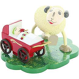 "Sheep ""Mutti"" with ""Schnucki"", Mom with Lamb  -  5cm / 2 inch"
