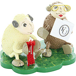"""Sheep """"Omi"""" and """"Opi"""", grandparents  -  5cm / 2inch"""