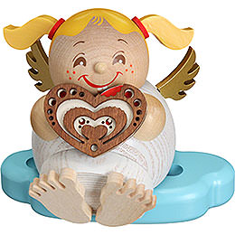 Smoker Angel with Gingerbread  -  10cm / 3.9inch