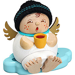 Smoker  -  Angel with Mulled Wine  -  10cm / 3.9 inch