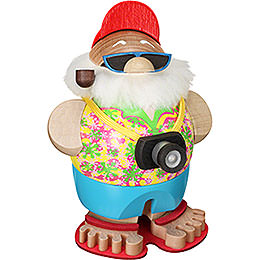 Smoker Ball Figure Santa incognito with camera  -  11cm / 4.3inch