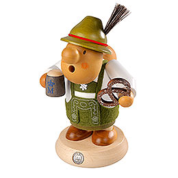 Smoker Bavarian with costume  -  16cm / 6 inch