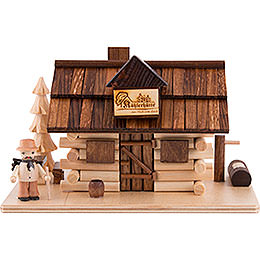 Smoker  -  Charcoal Hut with Wood Worker  -  10,5cm / 4 inch