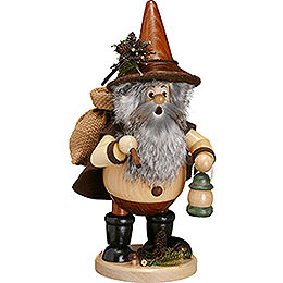 Smoker Forest Gnome Hiker, natural  -  25cm / 10inch