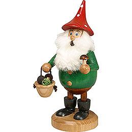 Smoker  -  Forest Gnome Mushroom Picker Green  -  15cm / 6 inch