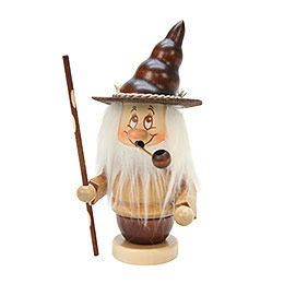 Smoker Mini - Gnome with stick  -  16,5cm / 6,5 inch