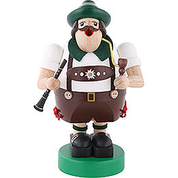 Smoker Octoberfest musician with Clarinet  -  6 inch  -  16cm