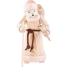 Smoker Santa Claus natural wood  -  25cm / 9.8inch