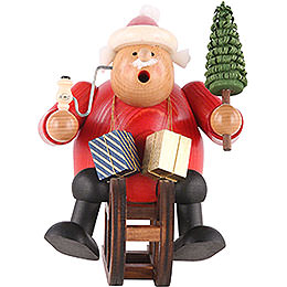 Smoker Santa Claus with sleigh  -  18cm / 7 inch