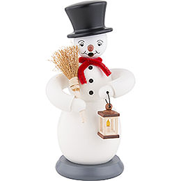 Smoker Snowman  -  colored  -  23cm / 9 inch