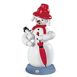 Smoker Snowwoman  -  colorful  -  23cm / 9 inch