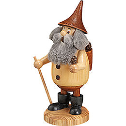 Smoker Timber - Gnome Coneman natural colors  -  Hat brown  -  15cm / 6 inches