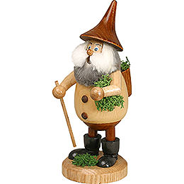 Smoker Timber - Gnome Mossman natural colors  -  Hat brown  -  15cm / 6 inches