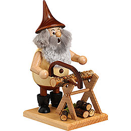 Smoker Timber - Gnome on a board  -  15cm / 6 inches