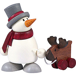 Snow man Otto with elk    -  8cm / 3.1inch