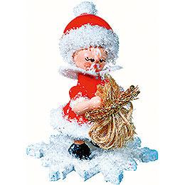 Snowflake as Santa Claus  -  5cm / 2 inch