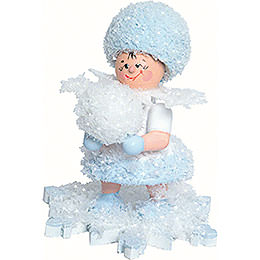 Snowflake with snow globe  -  5cm / 2inch