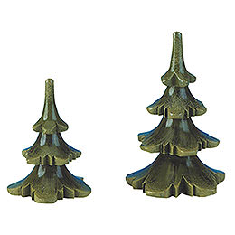Summer tree set of two  -  6 & 8cm / 2 & 3inch