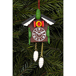 Tree Ornament  -  Cuckoo Clock  -  5,7x8,8cm / 2x3 inch