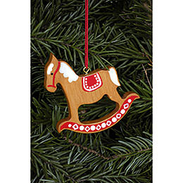 Tree Ornament  -  Ginger Bread Horse Gross Brown  -  6,2x6,5cm / 2.4x2.5 inch