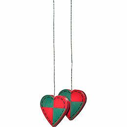 """Tree Ornament  -  """"Hearts""""  -  3cm / 1.2 inch"""