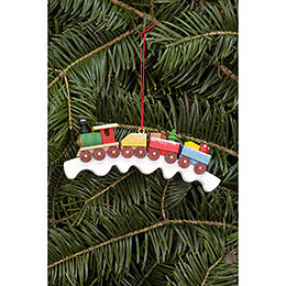 Tree Ornament  -  Railroad  -  11,0x4,1cm / 4.3x1.6 inch