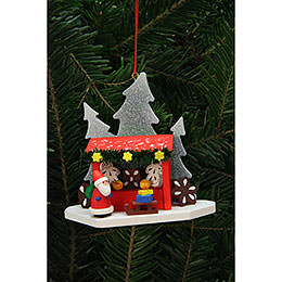 Tree Ornament  -  Strizelmarkt Booth with Niko  -  9,2x8,7cm / 4x3 inch