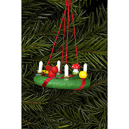 Tree ornament Advent wreath  -  4,3 x 1,9cm / 1.7 x 0.7inch
