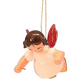 Tree ornament Angel conductor  -  Red Wings  -  floating  -  5,5cm / 2,1 inch