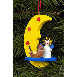 Tree ornament Angel in Moon  -  4,5 x 6,3cm / 2 x 2 inch