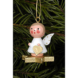 Tree ornament Angel on Star  -  2,9 x 3,0cm / 1 x 1 inch