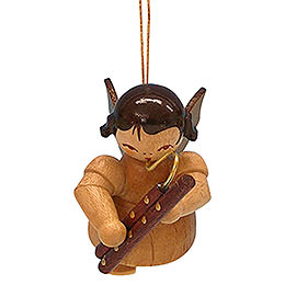 Tree ornament Angel with bassoon  -  natural colors  -  floating  -  5,5cm / 2,1 inch