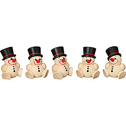Tree ornament Cool Man  -  5 - pcs  -  4cm / 2 inch