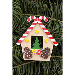 Tree ornament Ginger Bread house with Candy  -  6,5 x 7,0cm / 2.6 x 7.8inch