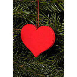 Tree ornament Heart red  -  5,7 x 4,5cm / 2 x 2 inch