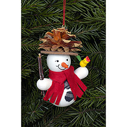 Tree ornament Snowman Coneman  -  7,0 x 9,0cm / 2 x 3 inch