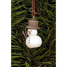 Tree ornament Snowman natural  -  3,0 x 2,0cm / 1.2 x 0.8inch