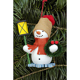 Tree ornament Snowman with Lantern  -  6,3 x 8,0cm / 2.5 x 3.1inch