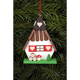 Tree ornament Witch house  -  5,2 x 7,2cm / 2 x 3 inch