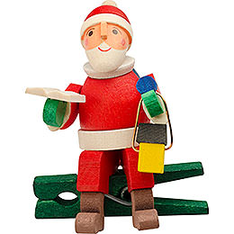 Tree ornament gnome with lantern, with clip  -  6cm / 2.4inch
