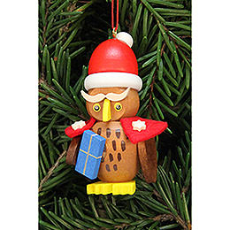 Tree ornament owl Santa Claus  -  3,2x6,2cm / 1.3x2.4inch