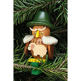 Tree ornament owl shepherd on clip  -  5,3x7,0cm / 2.1x2.8inch