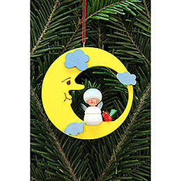 Tree ornament snowflake in moon  -  7,9x7,9cm / 3x3inch