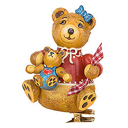 Tree ornament tree clip Anni's teddy bear  -  8cm / 3.1inch