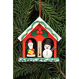 Tree ornament weather house  -  6,8x6,9cm / 2.7x2.7inch