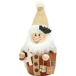 Wackelwichtel Weihnachtsmann natur  -  15,5cm