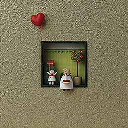 "Wall picture ""Congratulations""  -  18x18x5cm / 7x7x2inch"