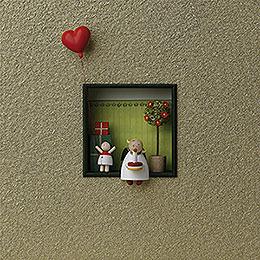 """Wandbild """"Herzlichen Glückwunsch""""  -  18x18x5cm"""