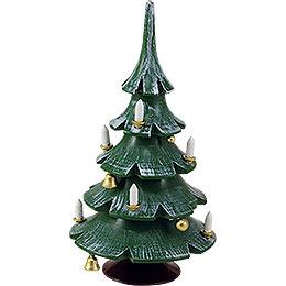 Weihnachtsbaum mit Glöckchen, farbig  -  12cm