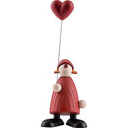 Weihnachtsfrau mit Herz  -  9cm
